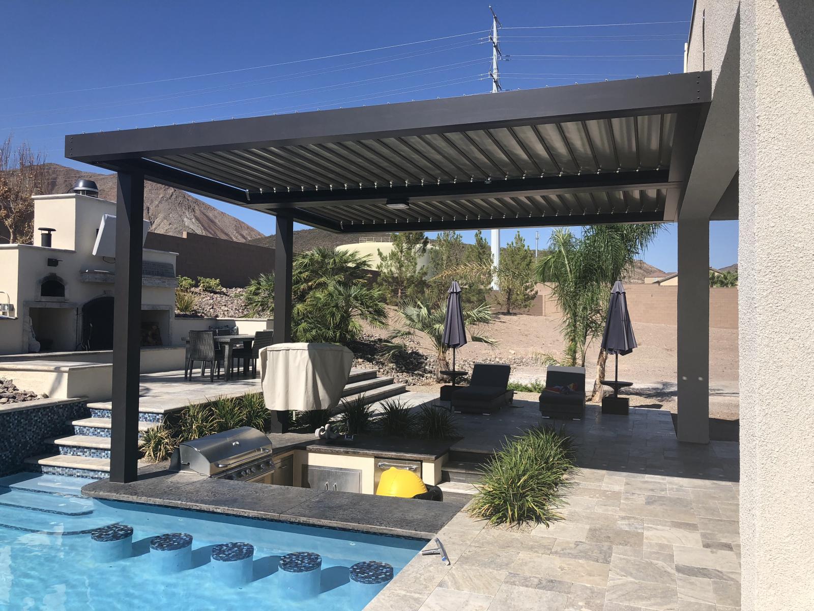 Adjustable Amp Retractable Patio Covers Las Vegas