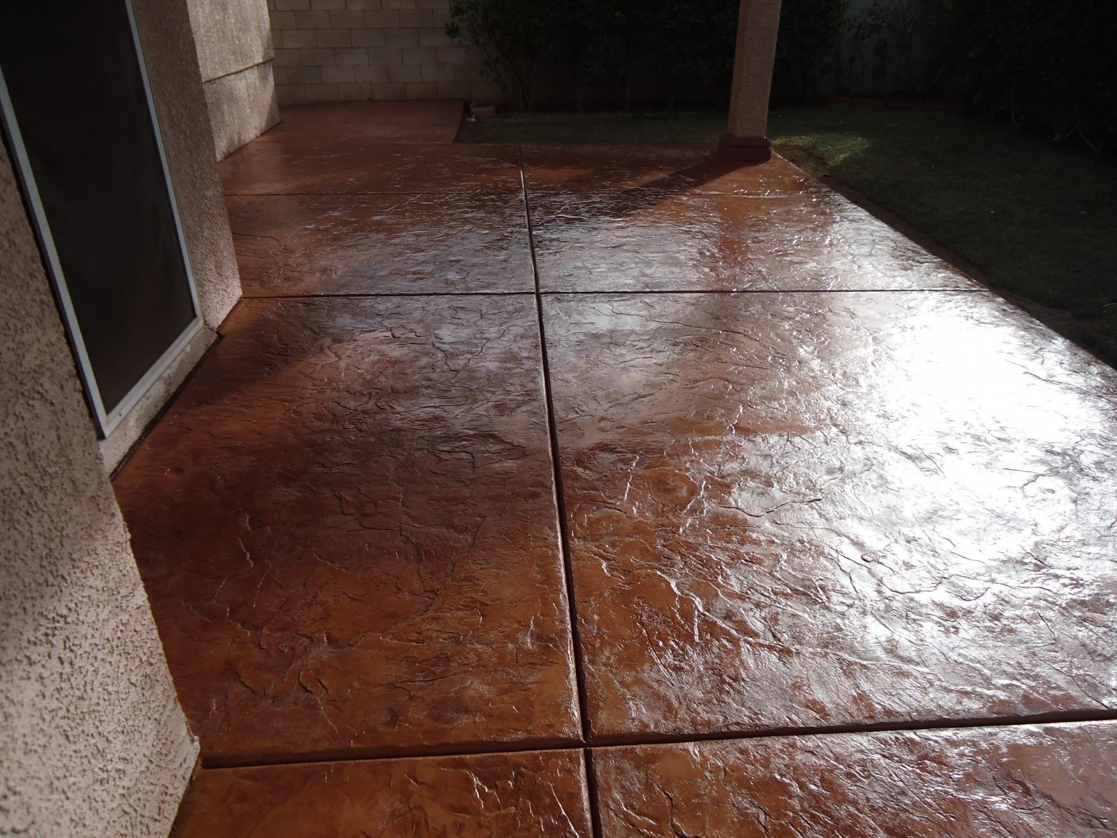 Stamped Overlay Concrete Las Vegas Proficient Patios